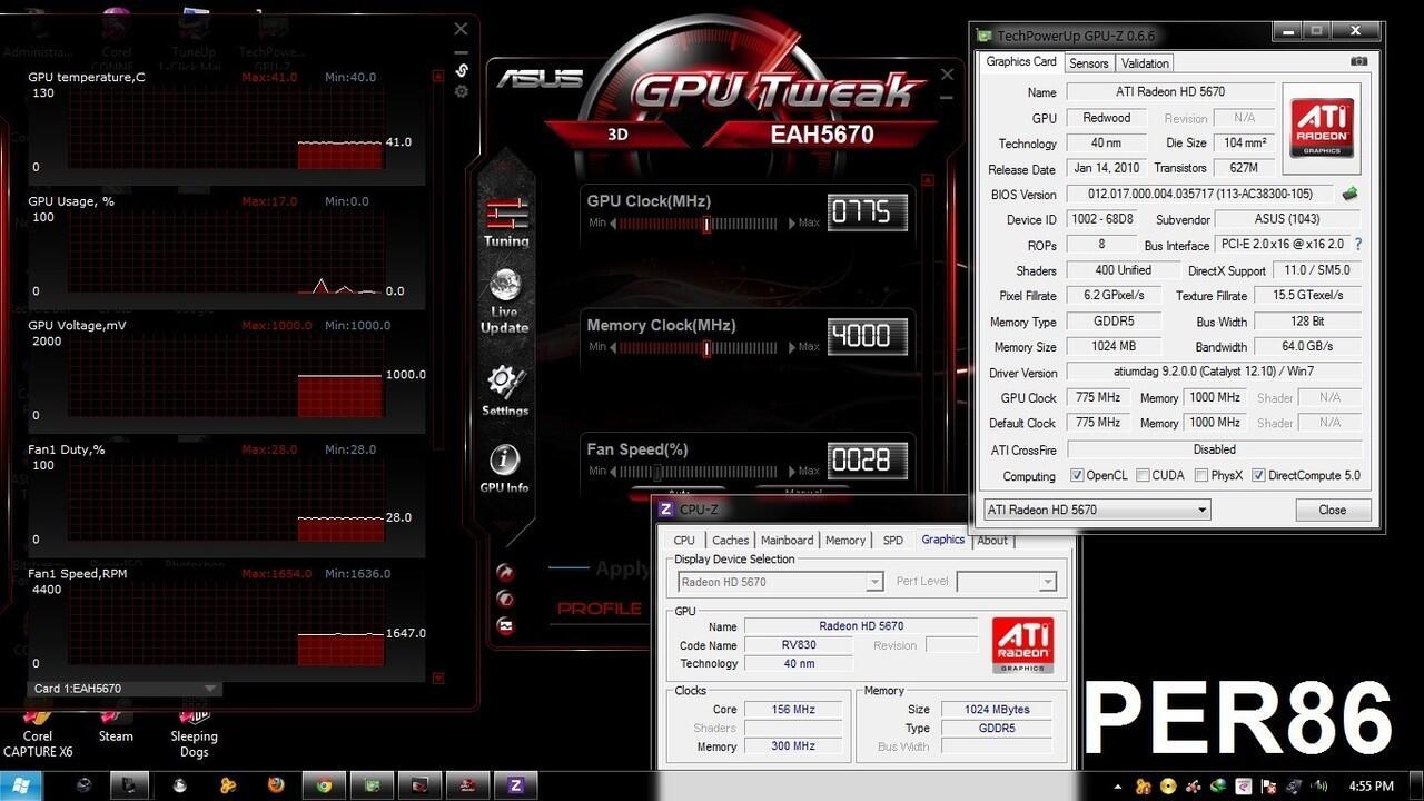 VGA Asus RADEON HD 5670 1GB DDR5 128Bit