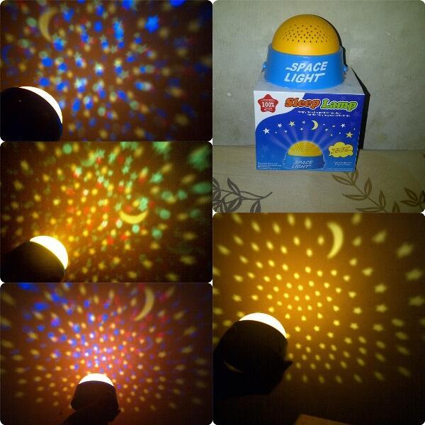 grosir china,lampu tidur proyektor bulan bintang +musik