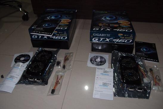 Gigabyte GTX 460 1GB GDDR5 - 2 Unit (ex SLI)