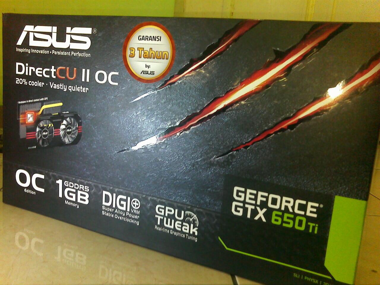 Jual VGA ASUS GTX 650 TI DCU II/OC