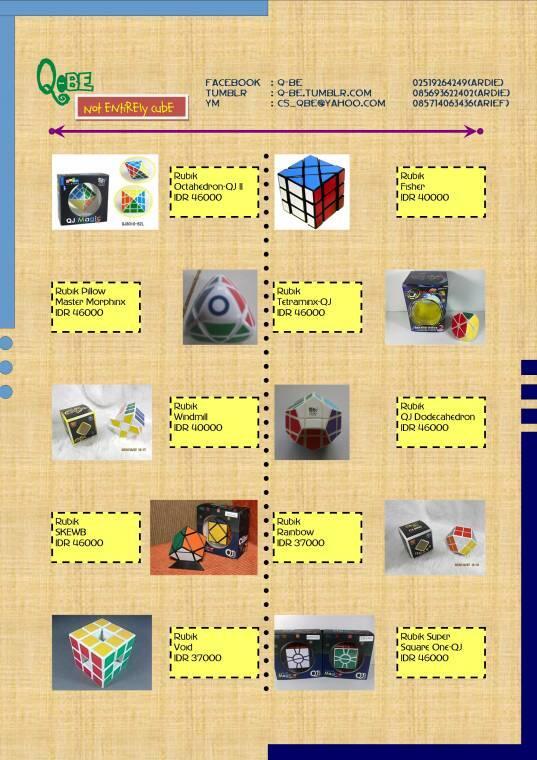 Q-be (Menyediakan Berbagai Jenis Rubik)