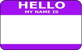 JUAL STICKER HELLO MY NAME IS POLOS