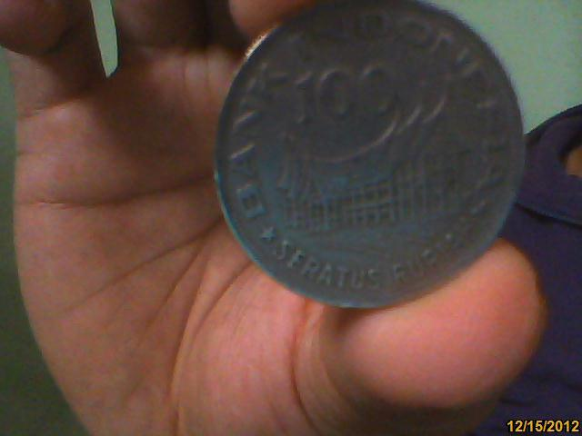 uang 100 rupiah logam tahun 1978