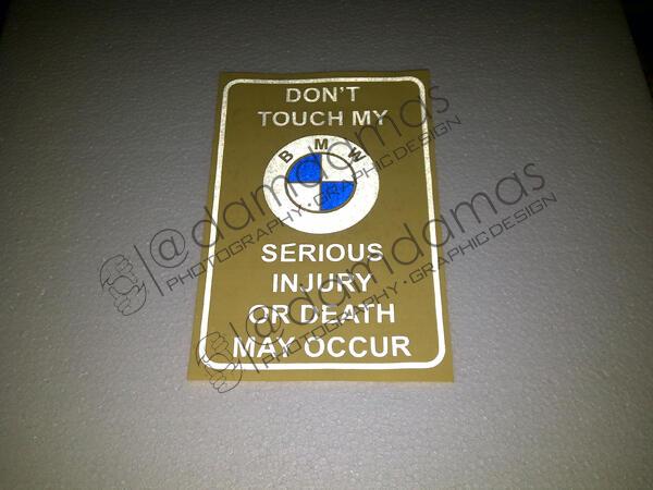 Stiker (decal) Mercedes, BMW, Toyota Crown, dll