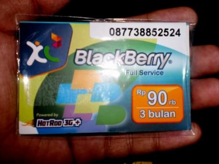 Perdana XL Paket Blackberry Full Service 3 Bulan