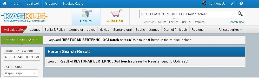 RESTORAN BERTEKNOLOGI TOUCH SCREEN TERBESAR !!!
