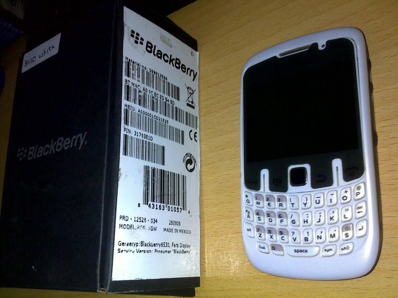 BB 8530 CDMA white mulus