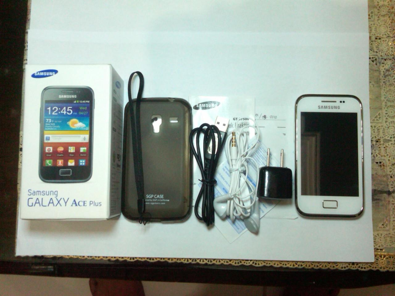 GALAXY ACE PLUS GT-S7500 WHITE LIKE A NEW JOGJA SOLO
