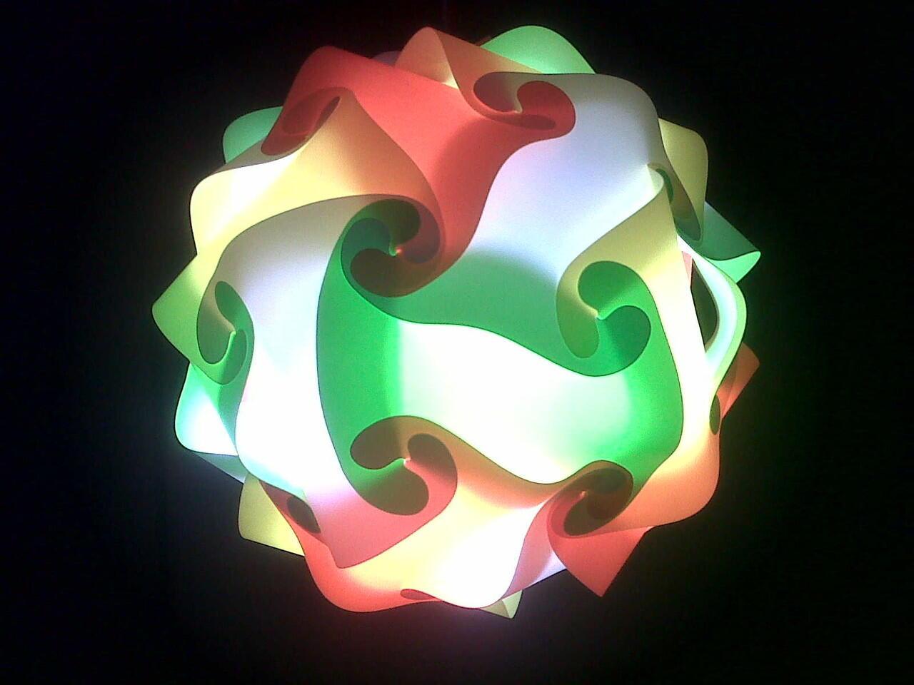 Lampu Hias dari Bahan Fiber