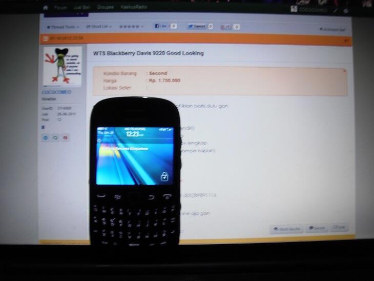 WTS Blackberry Davis 9220 Good Looking