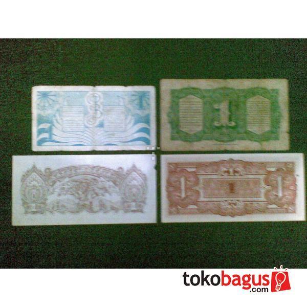 Uang antik satoe Rupiah jepang dan belanda