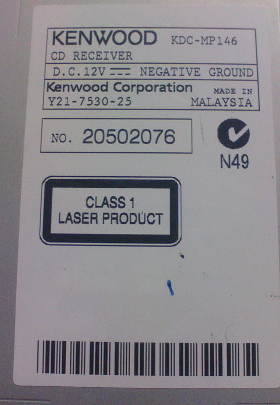 Kenwood KDC MP 146