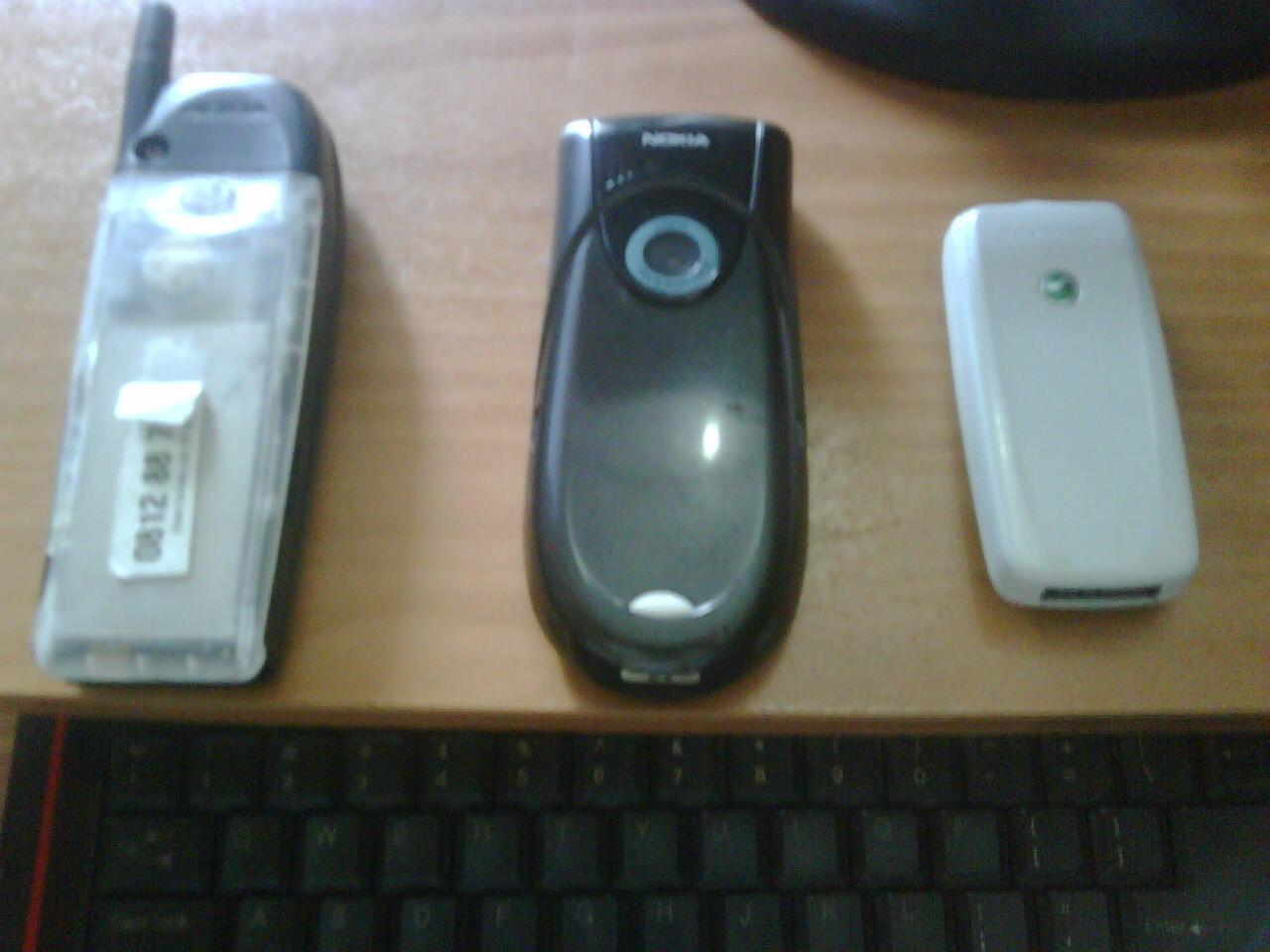 Nokia 5110, Nokia 3660, Sony Ericsson T600
