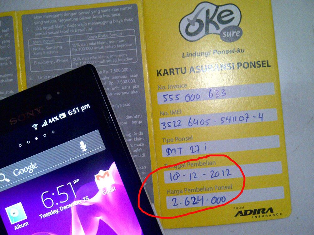 JUAL Sony Ericsson Xperia Sola (MT27i ) NEW White100% MULUS & KOMPLIT