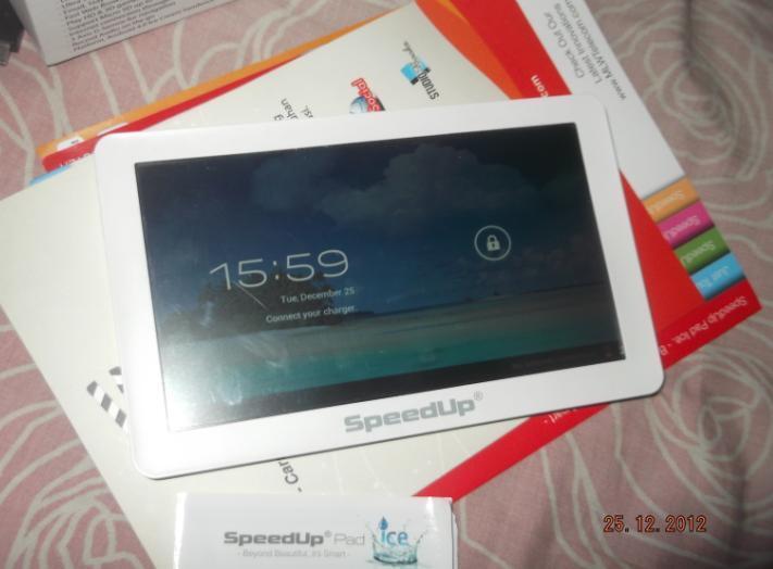 "Tablet 7"" Android ICS 4.0 SpeedUp Pad Ice, Super Mulus, Lengkap, Muraah, ada Bonus .."