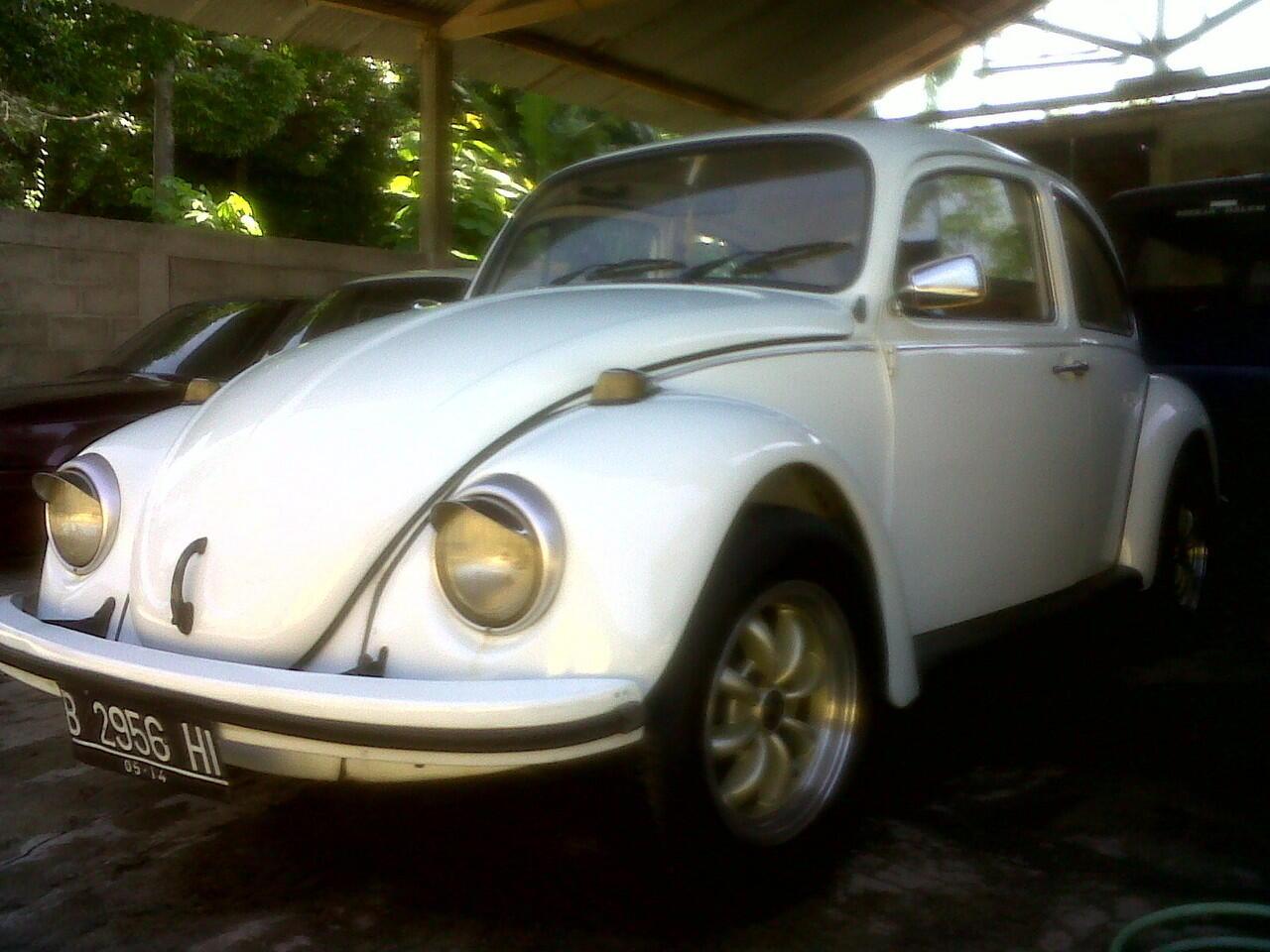 vw beetle '74 putih segar