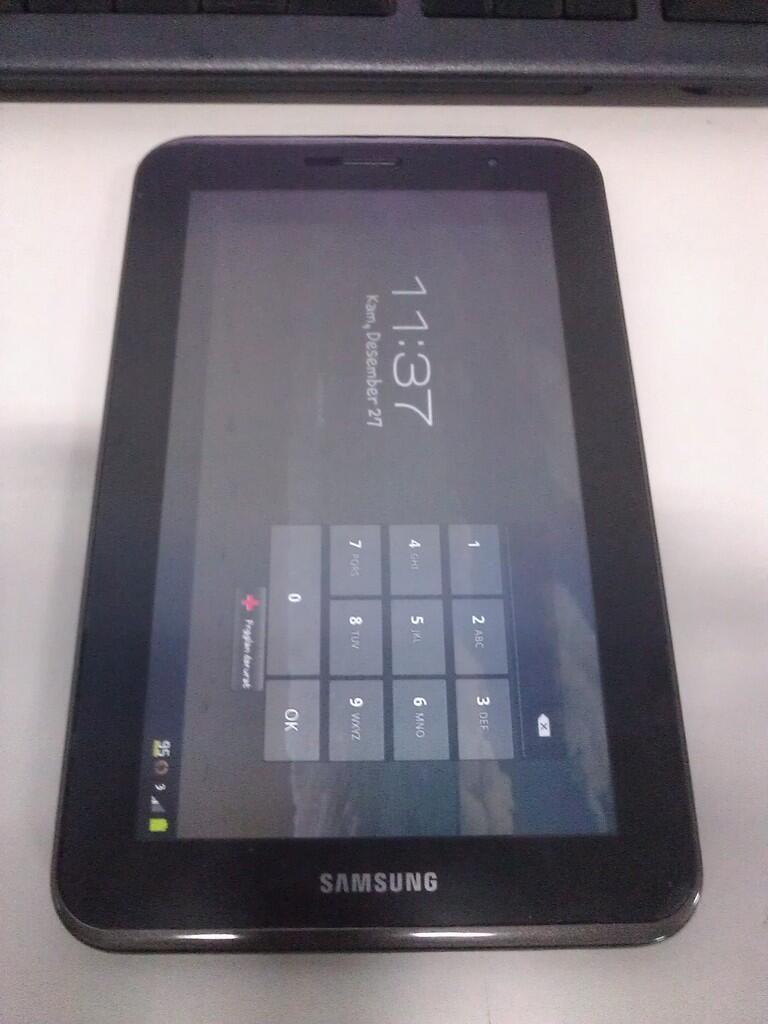 """Samsung Galaxy Tab2 7"""" 16Gb P3100 lengkap garansi 4 bulan lgi BU"""