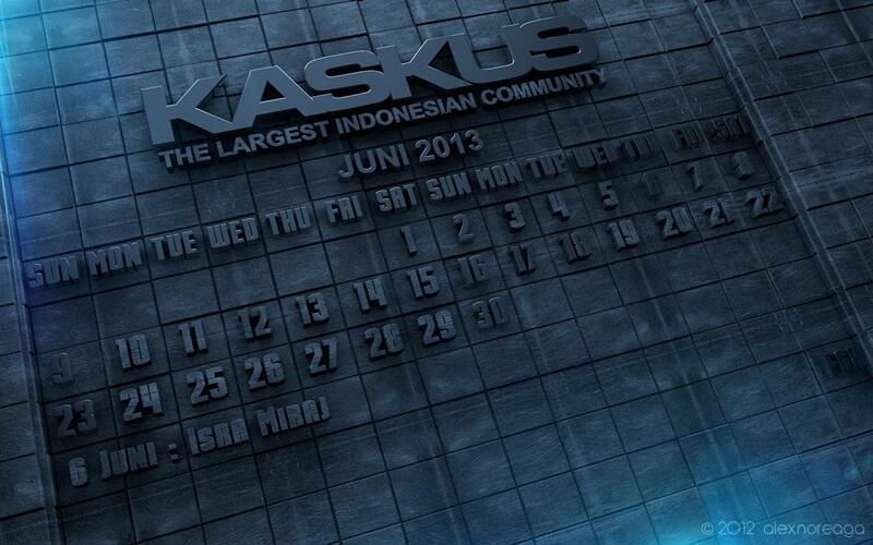SHARE Kalender 3D KASKUS gan