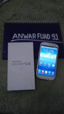 JUAL MURAH SMARTPHONE SAMSUNG GALAXY S3 FULLSET SEHARGA 4 JT PAS MULUS