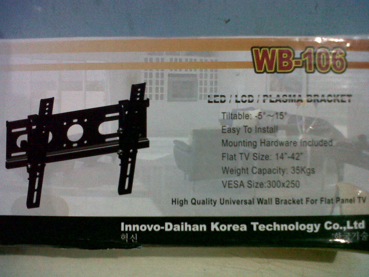 "Bracket LED/LCD/PLASMA 14""-42"""