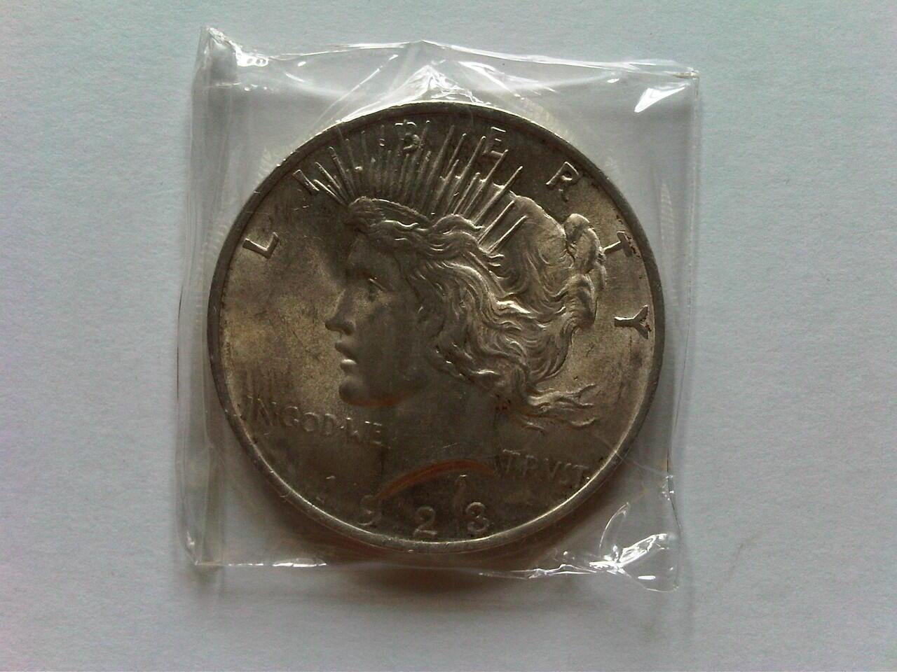 Koin Perak US Peace Dollar 1923