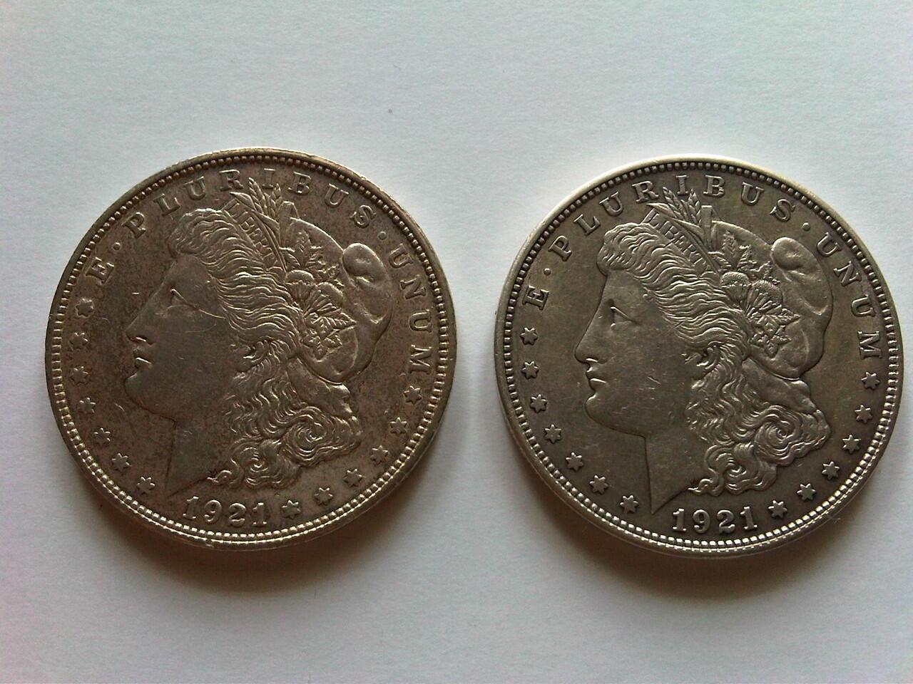 Koin Perak US Morgan Dollar 1900 dan 1901