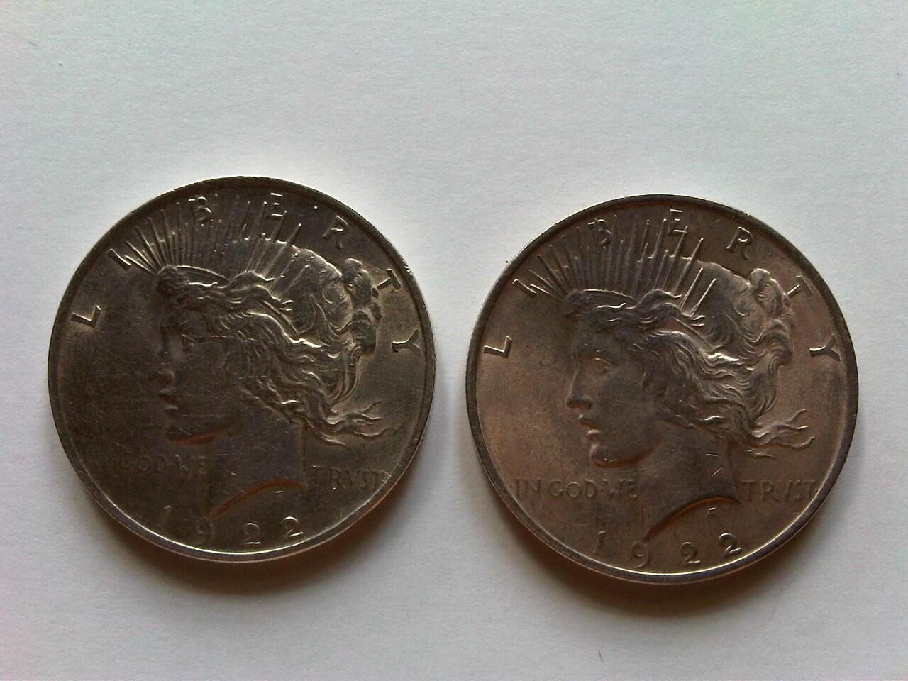Koin Perak US Peace Dollar 1922