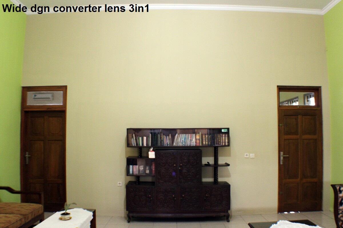 Converter Lens (Wide, macro, dan fisheye) 3 in 1 for canon and nikon