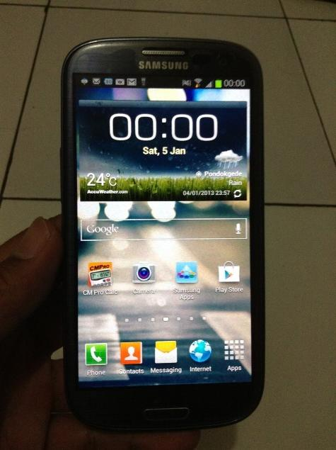 Jual SAMSUNG GALAXY S3 - 16gb Pebble blue