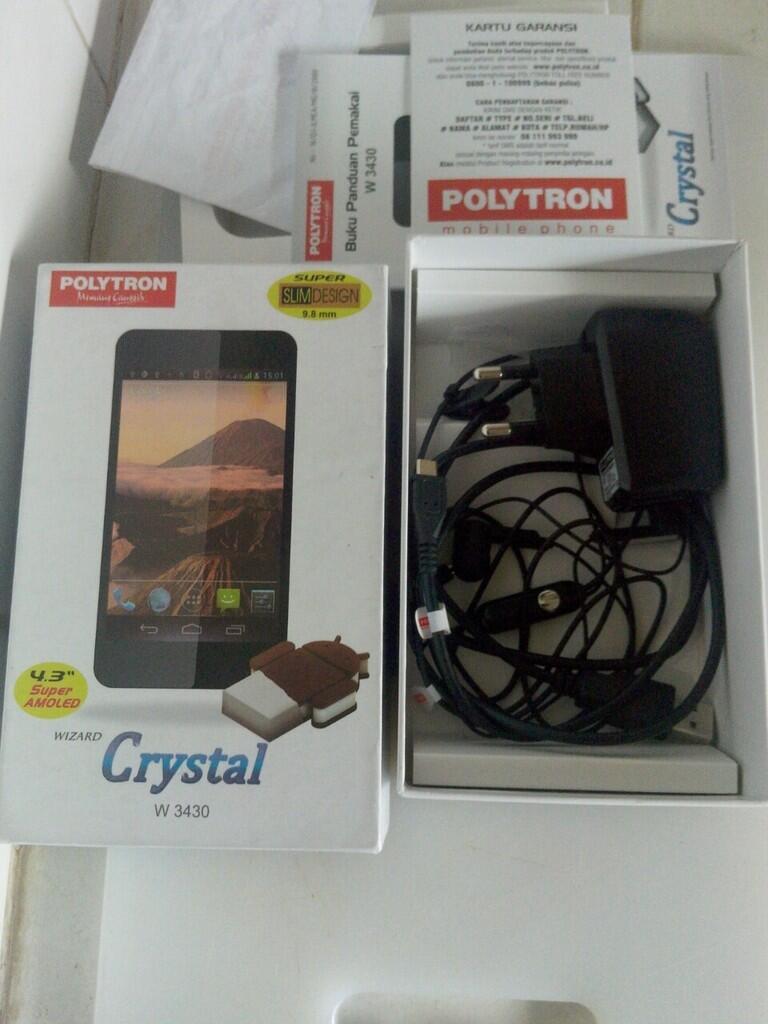Terjual Polytron Wizard Crystal W3430 Fitur Komplit Layar Sebenig