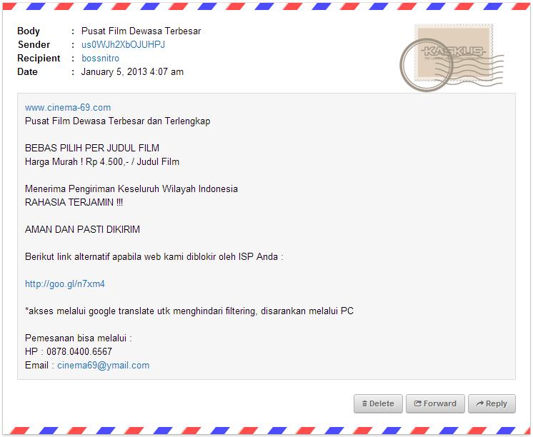 Kumpulan ID spammer di VM ane, yg mau nambahin silahkan
