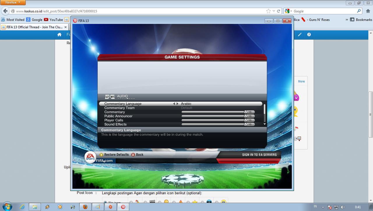 Balasan #6218 dari FIFA 13 Official Thread - Join The Club