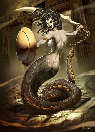 Gorgon - Medusa, Monster Wanita Berambut Ular Yang Terkutuk