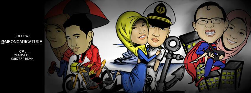 Kaos Karikatur Caricature Shirt Surabaya Kado Unik Lucu Romantis T