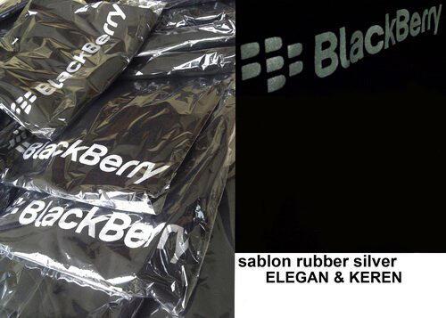 T-SHIRT BLACKBERRY HITAM & COKLAT [ELEGAN SILVER SABLON]