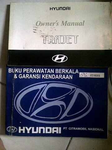 Jual Manual Book - Buku Panduan Hyundai Trajet 1st gen