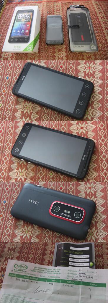 Jogja/Yogya 2.8jt HTC EVO 3D Mei 2013 Likenew + Capdase + Transcend 16Gb Class 10