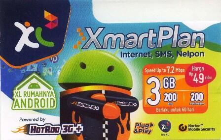 Perdana internet XL 2 Bulan 3 GB Murah