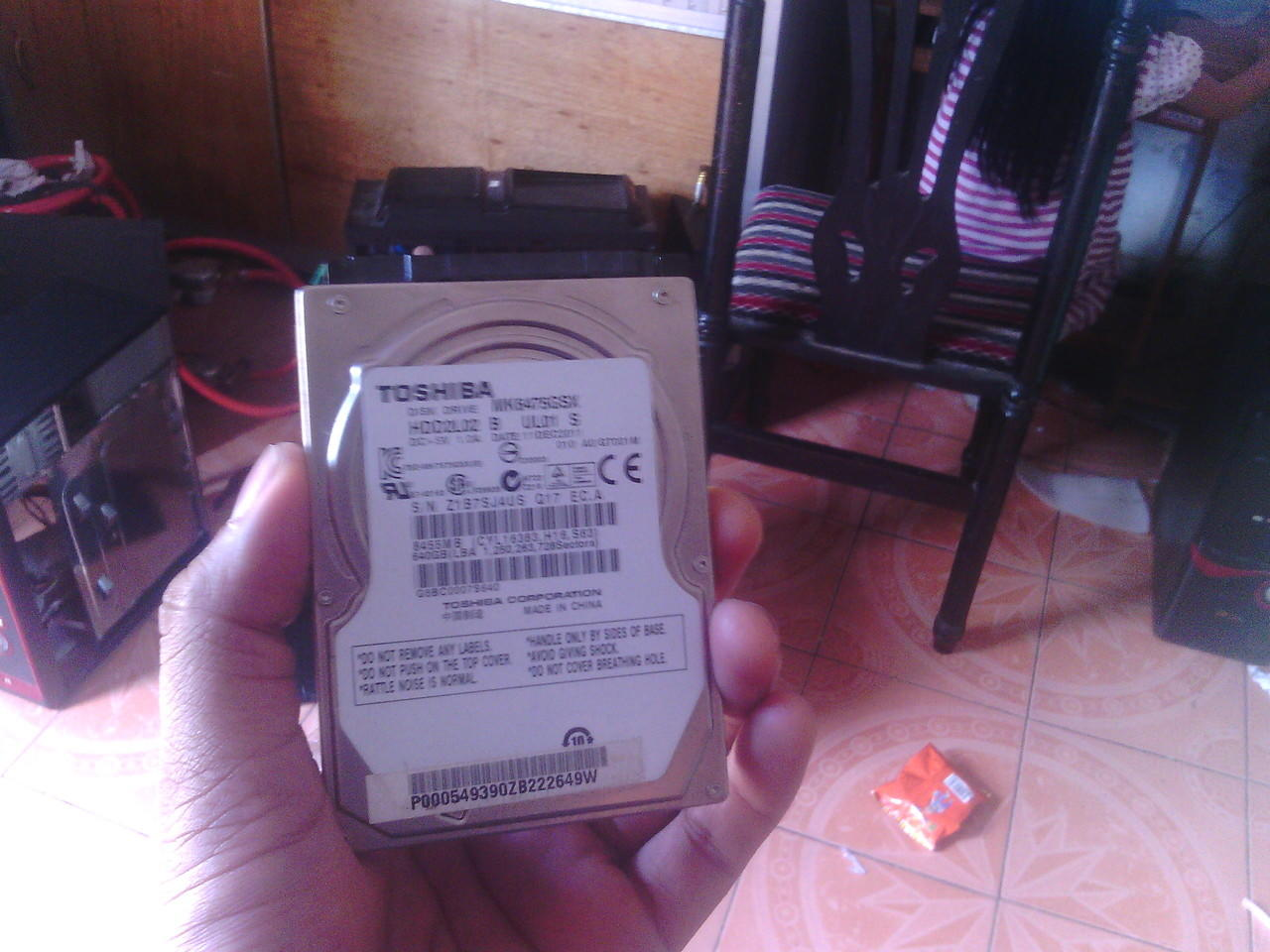 HDD Laptop 640 GB Merk Toshiba Sata ( Kota Medan )