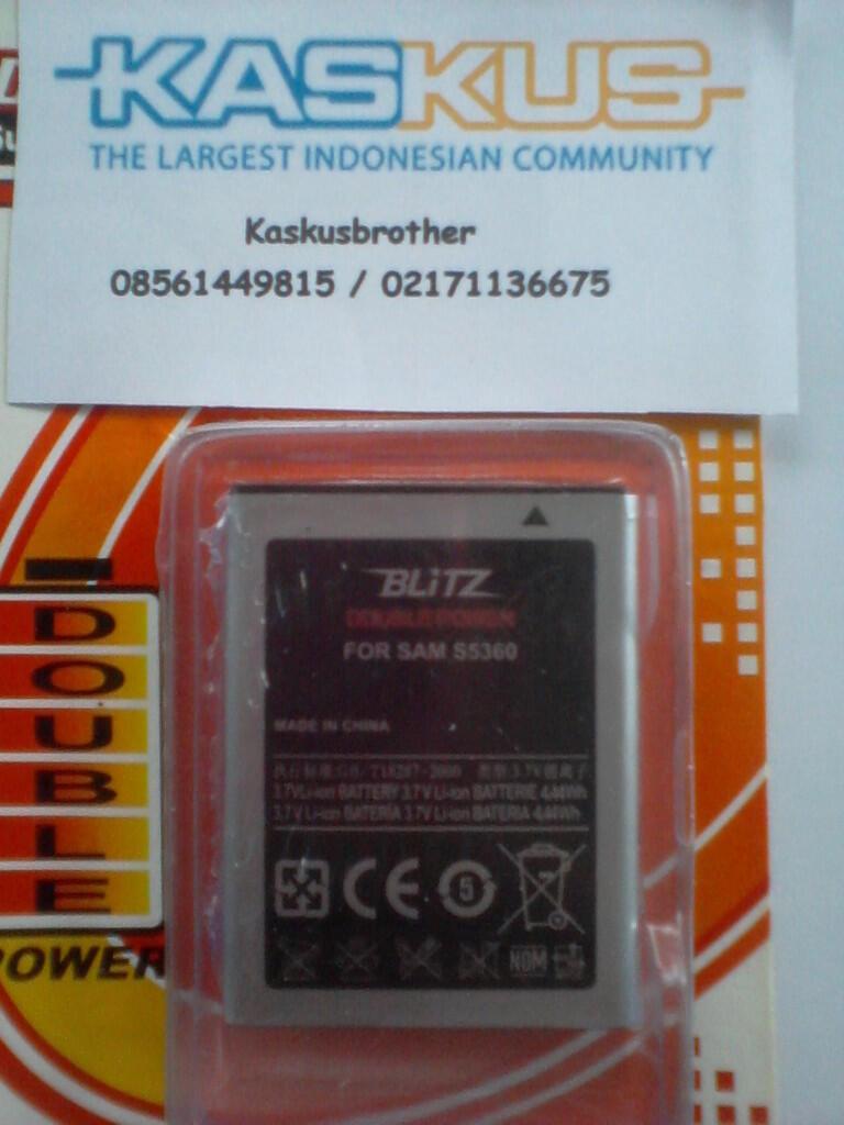 BATRE DOBEL POWER V2 2500 MAH SAMSUNG SPICA i5700 / K-TOUCH LOTUS AKA 1