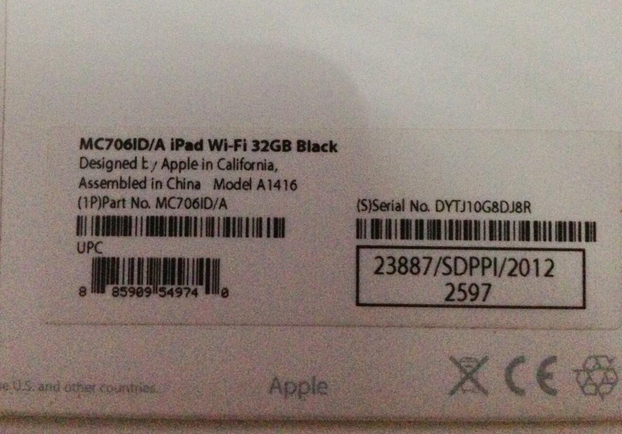 JUAL NEW IPAD WIFI 32GB....PEMAKAIAN BARU 3BLN..FULLSET,,TANPA CACAT!!!