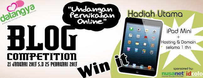 Kompetisi Blogging berhadiah Ipad Mini