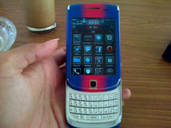blackberry torch 9800 white TAM surabaya