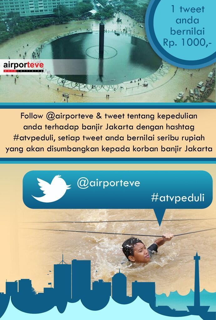 Ayo Gan, Bantu Korban Banjir Jakarta Dengan Follow Akun Twitter Ini