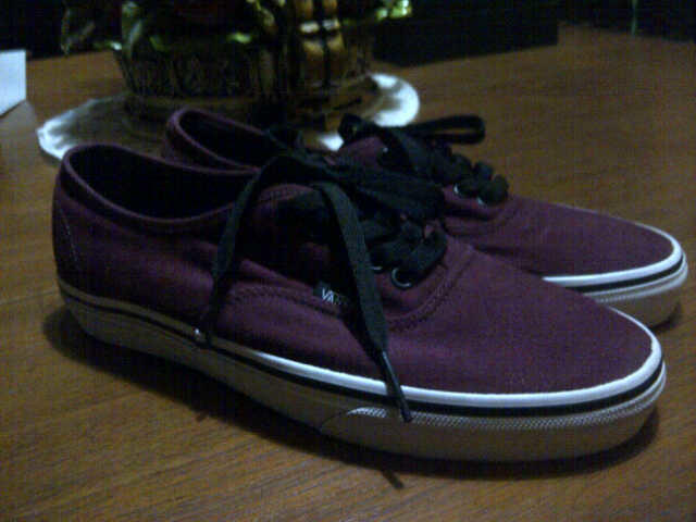 vans authentic shitake & vans authentic port royale/black