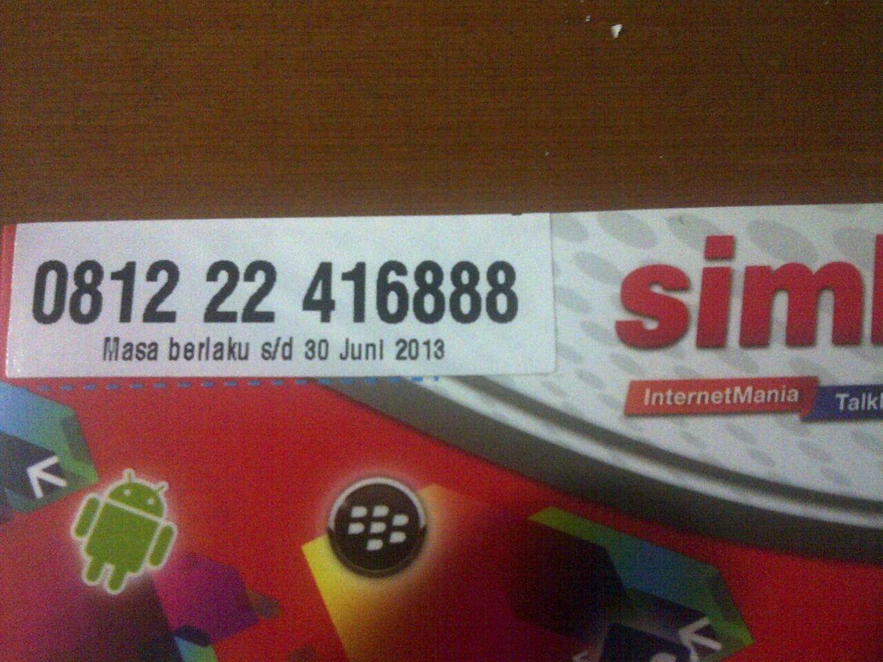 simPATI dan AS Nomor Cantik, Rapih, Hoki ! ! ! !