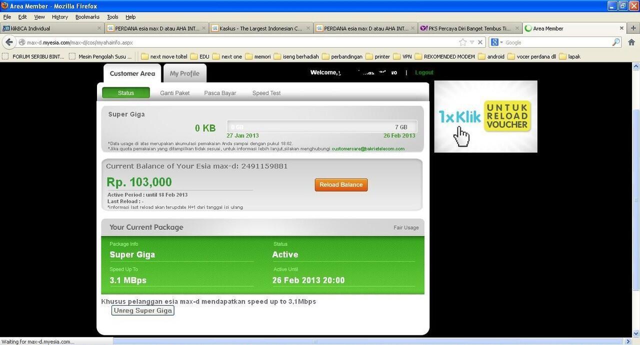 PERDANA esia max D atau AHA INTERNET 150RB PULSA 200RIBU