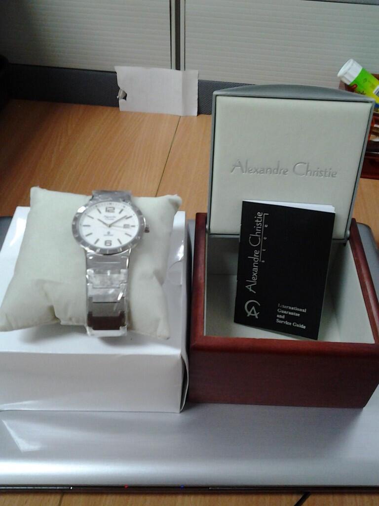 Terjual Jual Jam Tangan Alexander Christie Sapphire Bnib Dapet Alexandre 01 Hadiah