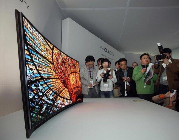 Teknologi TV masa depan gan,LAYAR LENGKUNG..