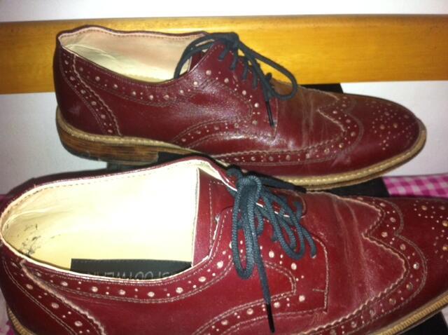 Jual Sepatu Wingtip / Brogues Coklat kemerahan